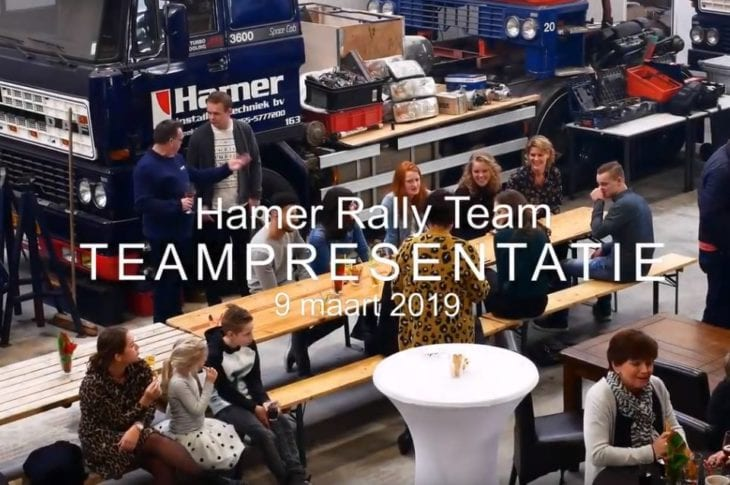 Teampresentatie zaterdag 9 maart 2019