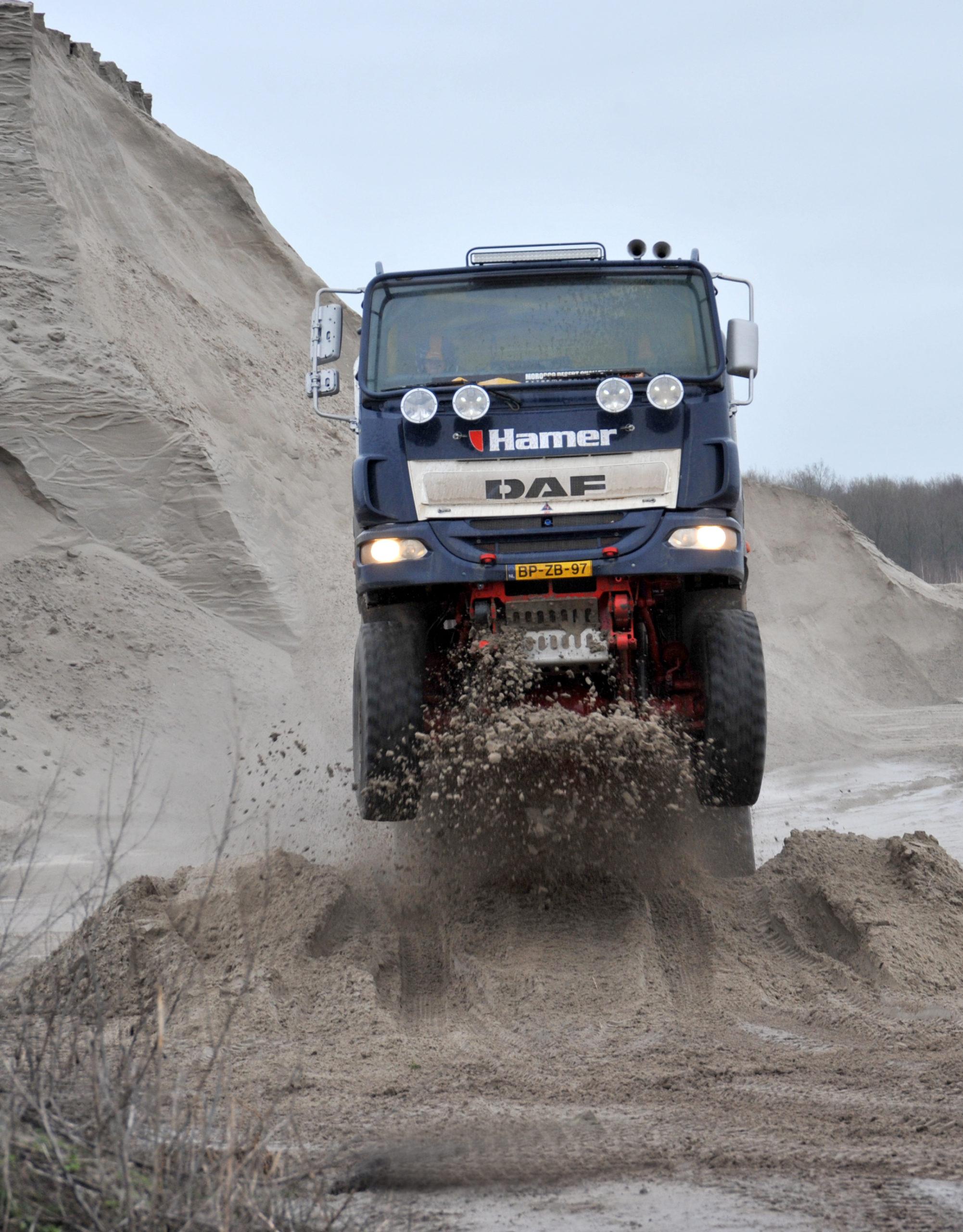 Eerste serieuze testdag voor materieel Hamer Rally Team
