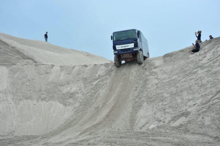 Hamer Rally Team test materieel